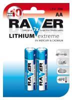 Baterie RAVER FR6 (AA) lithiová blistr, B7821