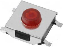 Mikrospínač; 1-polohové; SPST-NO; 0,05A/12VDC; SMT; 1,6N; 3,1mm