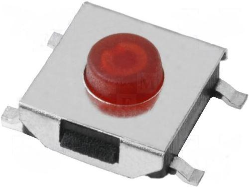 Mikrospínač 6,2x6,2mm H-3,1mm SMD TACTM-63N-F