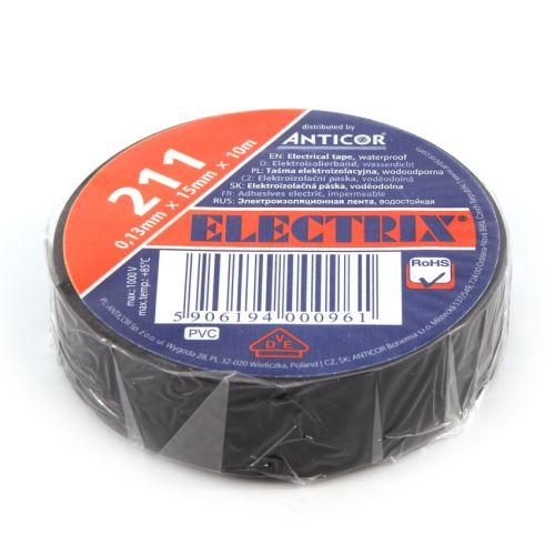 ANC PÁSKA PVC 211 ELECTRIX 15X10 ČERNÁ
