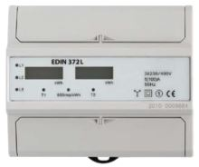 DK ELEKTROMĚR EDIN 372L 5-100A 2-TARIF 3-FÁZOVÝ LCD DISPLEJ 7M/DIN