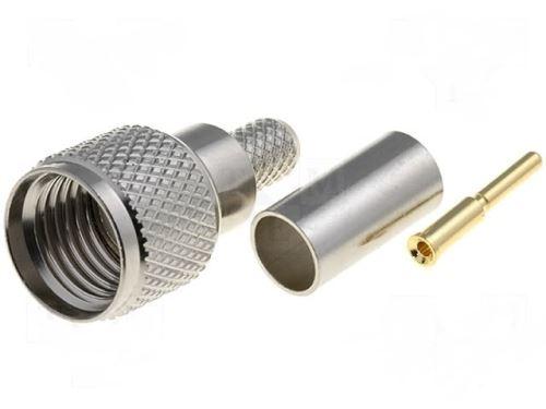 Konektor: UHF mini; zástrčka; vidlice; přímý; zlacený; Kabel: RG58