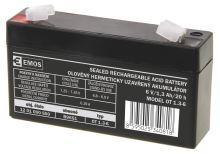 Bezúdržbový olověný akumulátor 6 V/1,3 Ah, faston 4,7 mm, 1201000500