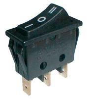 Přepínač kolébkový    3pol./3pin  ON-OFF-ON 250V/15A černý