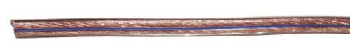 Dvojlinka nestíněná 2x1,0mm průhledná, 100m, 2308210000