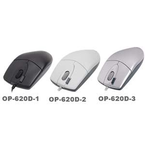 A4tech myš OP-620D, 2click, 1 kolečko, 3 tlačítka, USB, černá