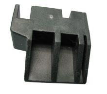 Držák skla dveří spodní - pravý,  sporák AMICA 8028448