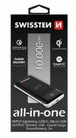 SWISSTEN ALL-IN-ONE POWER BANK 10000 mAh 22013927