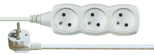 Prodlužovací kabel – 3 zásuvky, 1,5m, bílý, 1902030150
