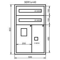 ELLO ROZVADĚČ 1.3ER1S+40 Z  500X800X230