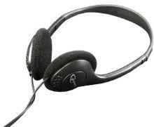 C-TECH sluchátka MHP-123, bez mikrofonu, černá MHP-123