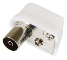Konektor IEC zásuvka zacvakávací úhlový, K1821