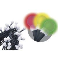 200 LED řetěz – kuličky, 20m, multicolor, časovač, 1534091025