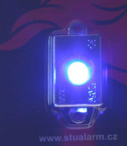 LED chromový panel 30x20mm 12V, modrá, 1LED/3SMD