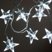Řetěz hvězdičky RH-067, 60 LED hvězdiček 4 cm