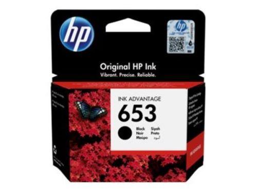 HP 653 Black Original Ink Advantage Cartridge