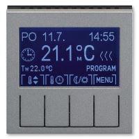 JBLV S 3292H-A10301 69, TERMOSTAT UNIVERZÁL.PROGRAM., OVL.JED., LEVIT, OCELOVÁ/KOUŘ. ČERNÁ
