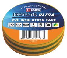 Izolační páska PVC 19mm / 20m zelenožlutá, 2001192050