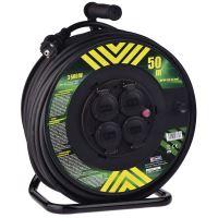 Gumový prodlužovací kabel na bubnu – 4 zásuvky, 50m, 2,5mm2, 1908545000