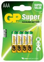 Alkalická baterie GP Super LR03 (AAA), blistr, 1013114000