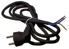 Flexo šňůra PVC 3x0,75 mm, 3m černá, 2413730232
