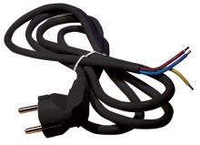 Flexo šňůra PVC 3× 1,5mm2, 2m, černá, 2413220232