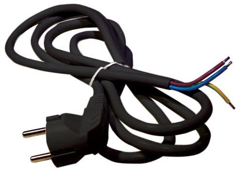 Flexo šňůra PVC 3× 1,5mm2, 2m, černá S18322
