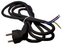 Flexo šňůra PVC 3× 1,0mm2, 2m, černá, 2413120232