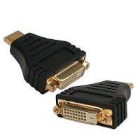 Kabel GEMBIRD red. HDMI na DVI, M/F, zlacené kontakty, černá KAB051R008
