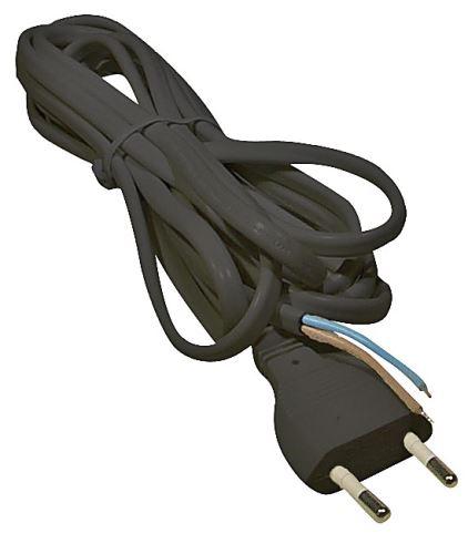 Flexo šňůra PVC 2x0,75 mm, 3m černá, 2401730232