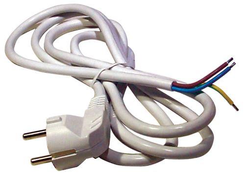Flexo šňůra PVC 3x0,75 mm, 2m bílá, 2413720132
