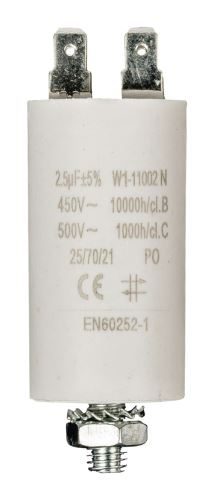 Kondenzátor 450V + Zem 2.5uf / 450 v + Aarde No Brand W1-11002N