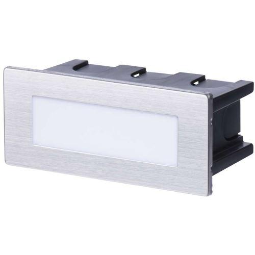 LED orientační vestavné svítidlo 123×53, 1,5W tep. bílá,IP65, 1545000080