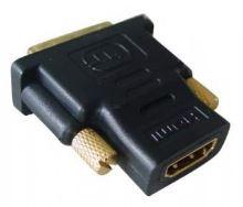 Kabel GEMBIRD red. HDMI na DVI, F/M, zlacené kontakty, černá KAB051R002