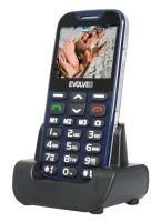 EVOLVEO EasyPhone XD, mobilní telefon pro seniory s nabíjecím stojánkem, modrý, EP-600-XDL