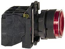SCHN HARMONY OVLADAČ STISK PROSVĚT 1Z+1V LED 24VAC/DC KOMPLET ČERVENÁ XB5AW34B5