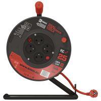 PVC kabel na bubnu s vypínačem – 4 zásuvky, 25m, 1,5mm2, 1908042512