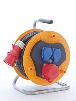 Gumový prodlužovací kabel na bubnu - 3 zásuvky 25m, 1908432500