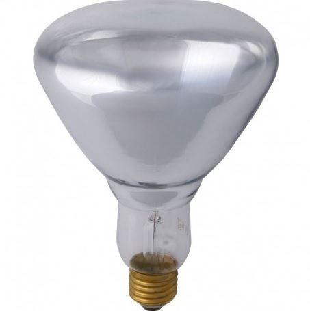Infra žárovka E27 250W čírá vhodná na ohřev potravin