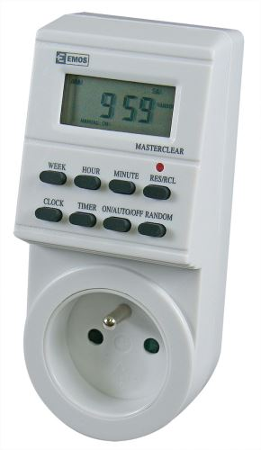Časovač – digitální spínací zásuvka TS-EF1, 1907110010
