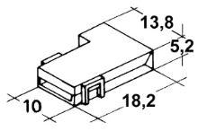 Kryt dutinky 6,3mm bílý