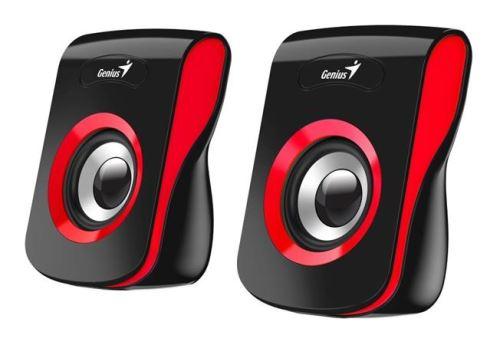 GENIUS repro SP-Q180, 2.0, 6W, USB napájení, 3,5mm jack, černo-červené
