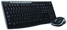 Logitech klávesnice s myší Wireless Combo MK270, CZ, černá