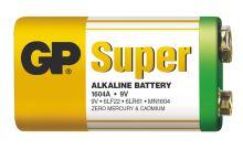 Alkalická baterie GP Super 6LF22 (9V) fólie, 1013501000