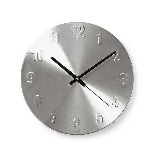 Nástěnné hodiny | Průměr: 300 mm | Kov | Stříbrná Nedis CLWA009MT30