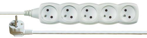 Prodlužovací kabel – 5 zásuvek, 3m, bílý P0513