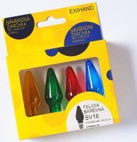 Blistr 4 žárovky Felicia barevná 14V/0,1A