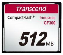Transcend 512MB INDUSTRIAL CF300 CF CARD, high speed 300X paměťová karta (SLC)