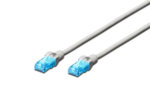 Digitus Patch Cable, UTP, CAT 5e, AWG 26/7, měď, šedý 0,5m