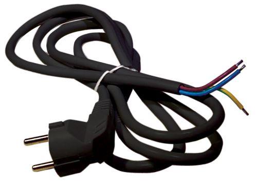 Flexo šňůra PVC 3× 1,0mm2, 3m, černá, S18313